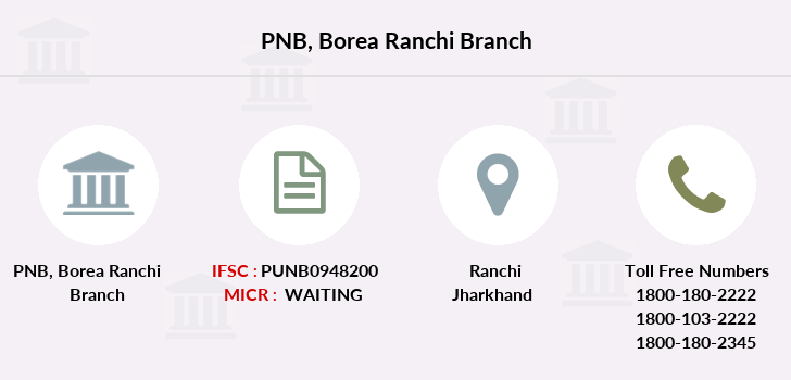 Punjab-national-bank Borea-ranchi branch