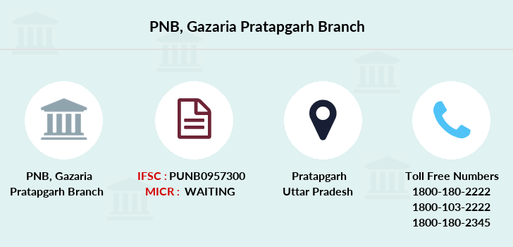 Punjab-national-bank Gazaria-pratapgarh branch