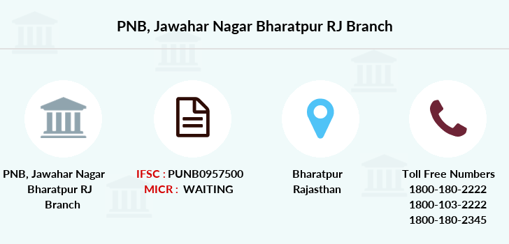 Punjab-national-bank Jawahar-nagar-bharatpur-rj branch
