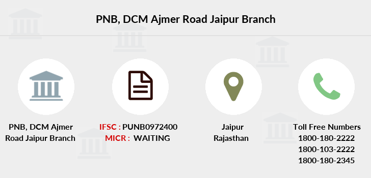 Punjab-national-bank Dcm-ajmer-road-jaipur branch