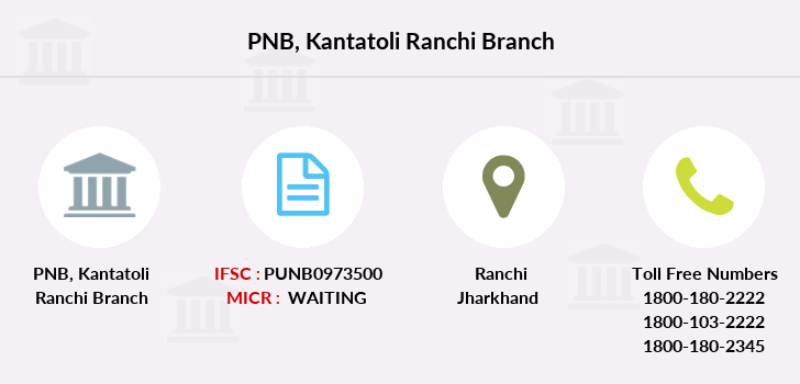 Punjab-national-bank Kantatoli-ranchi branch