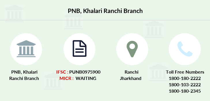 Punjab-national-bank Khalari-ranchi branch