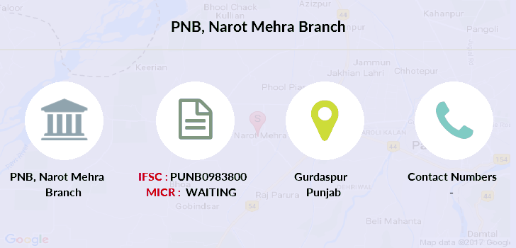 Punjab-national-bank Narot-mehra branch