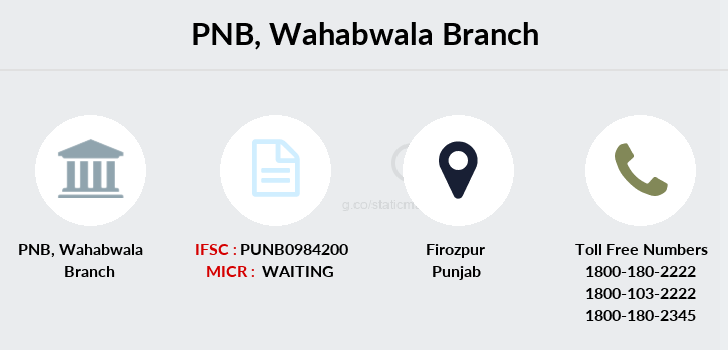 Punjab-national-bank Wahabwala branch