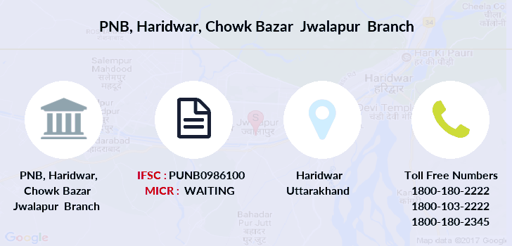 Punjab-national-bank Haridwar-chowk-bazar-jwalapur branch