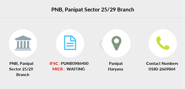 Punjab-national-bank Panipat-sector-25-29 branch