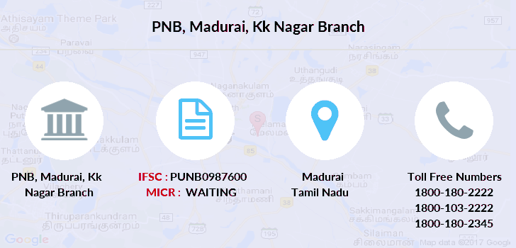 Punjab-national-bank Madurai-kk-nagar branch