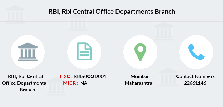 Reserve-bank-of-india Rbi-central-office-departments branch