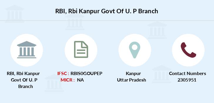 Reserve-bank-of-india Rbi-kanpur-govt-of-u-p branch