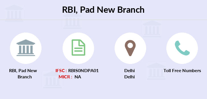 Reserve-bank-of-india Pad-new branch