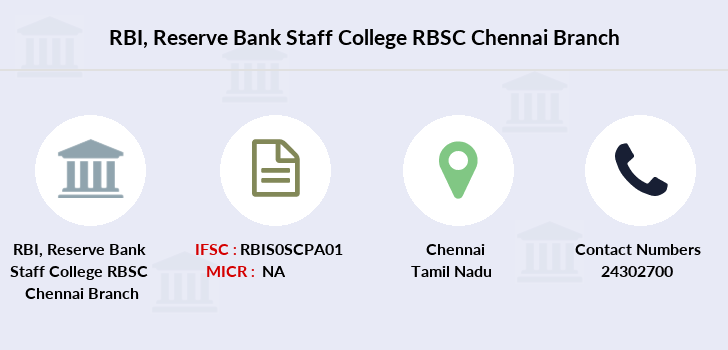 Reserve-bank-of-india Reserve-bank-staff-college-rbsc-chennai branch