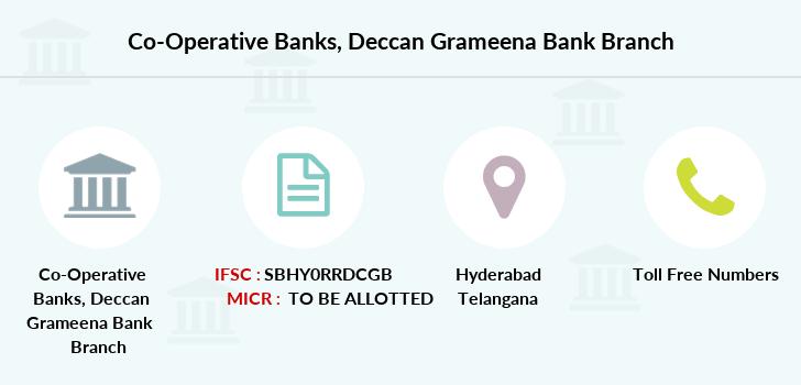 Co-operative Banks Deccan Grameena Bank IFSC Code SBHY0RRDCGB
