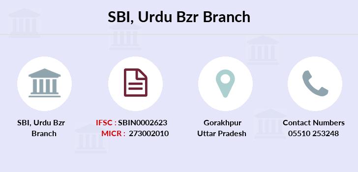 SBI Urdu Bzr IFSC Code SBIN0002623