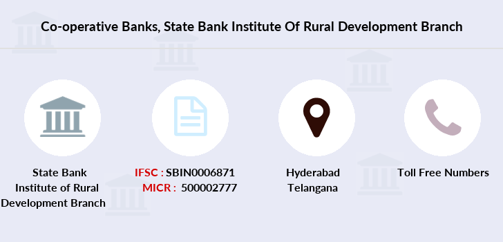 Co-operative-banks State-bank-institute-of-rural-development branch
