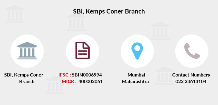 Sbi Kemps-coner branch