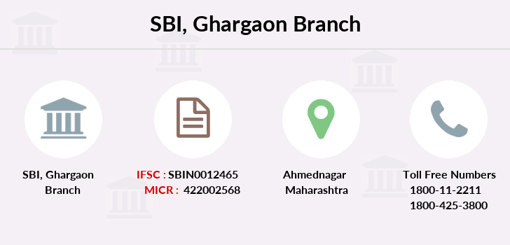 Sbi Ghargaon branch