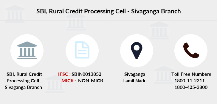 Sbi Rural-credit-processing-cell-sivaganga branch