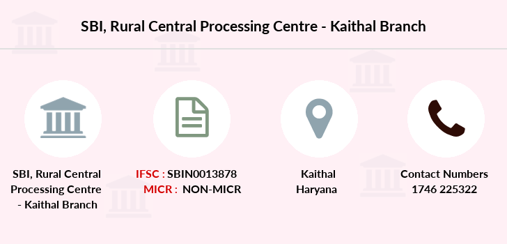Sbi Rural-central-processing-centre-kaithal branch