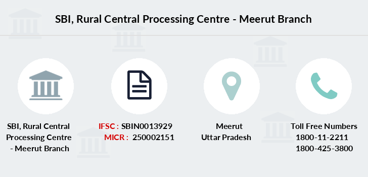 Sbi Rural-central-processing-centre-meerut branch