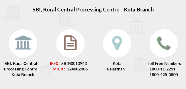 Sbi Rural-central-processing-centre-kota branch
