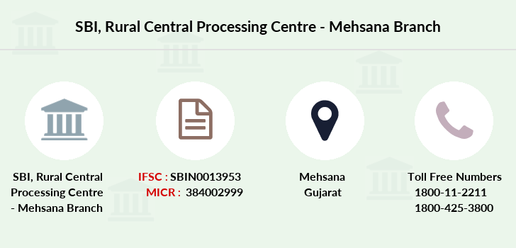 Sbi Rural-central-processing-centre-mehsana branch