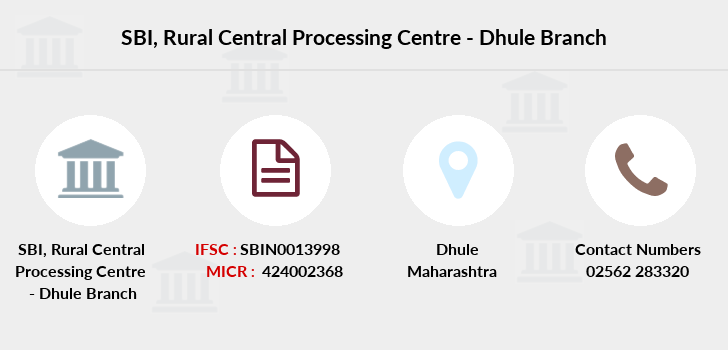 Sbi Rural-central-processing-centre-dhule branch