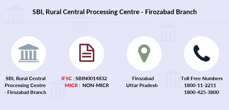 Sbi Rural-central-processing-centre-firozabad branch