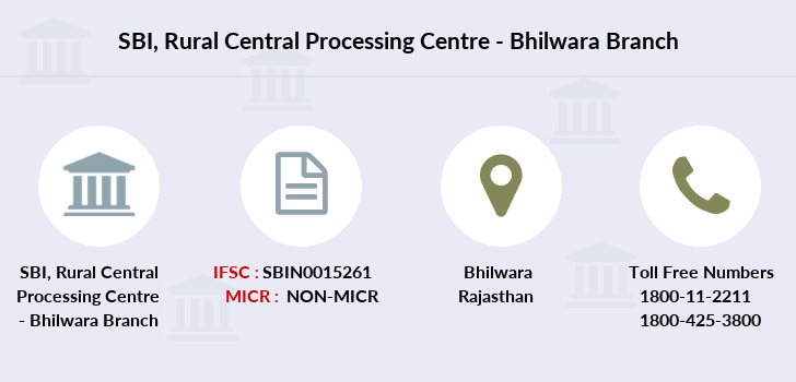 Sbi Rural-central-processing-centre-bhilwara branch