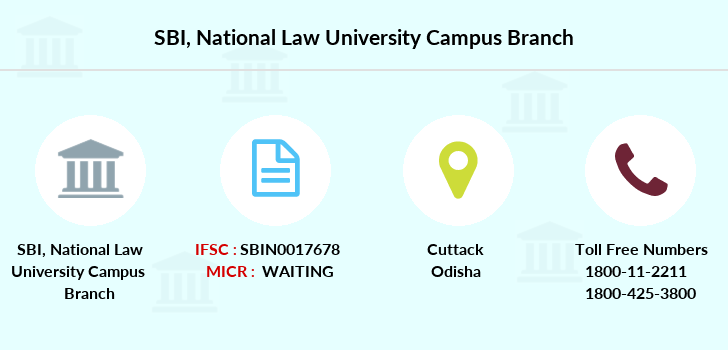 Sbi National-law-university-campus branch