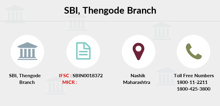 Sbi Thengode branch