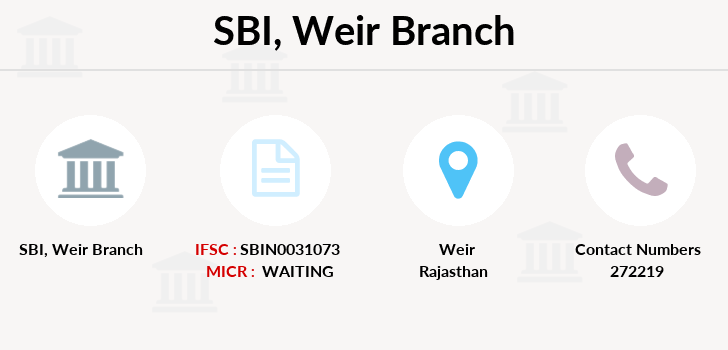 Sbi Weir branch