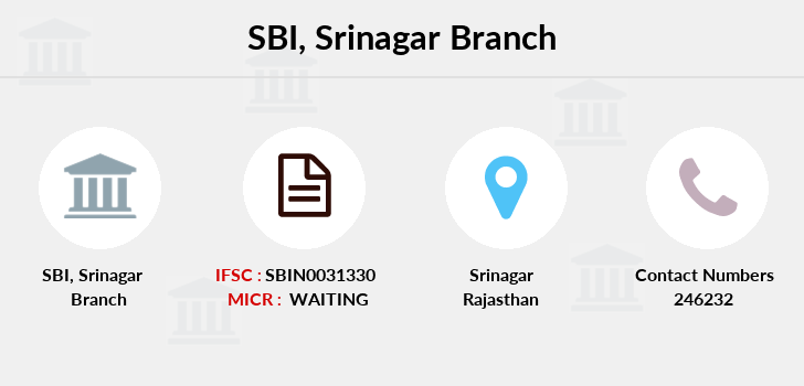 Sbi Srinagar branch