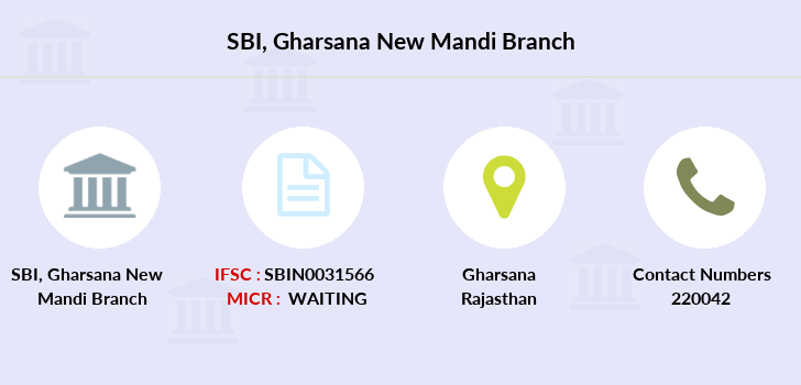 Sbbj Gharsana-new-mandi branch