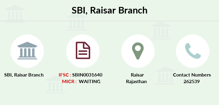 Sbi Raisar branch