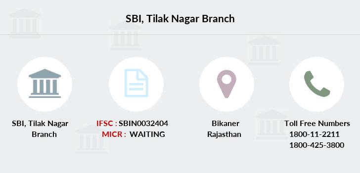 state bank of india tilak nagar ifsc code