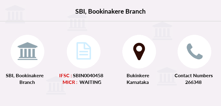 Sbi Bookinakere branch