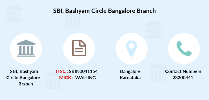 Sbm Bashyam-circle-bangalore branch