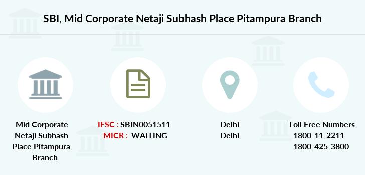 state bank of india pitampura branch address