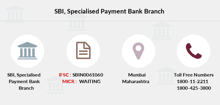 Sbi Specialised-payment-bank branch