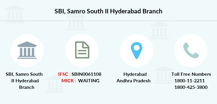 Sbi Samro-south-ii-hyderabad branch