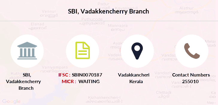 Sbi Vadakkencherry branch