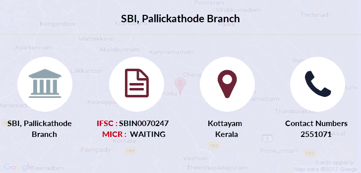 Sbi Pallickathode branch