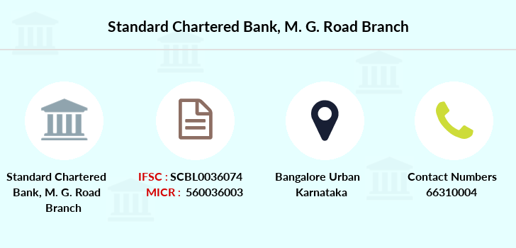 ifsc code of standard chartered bank m g road bangalore