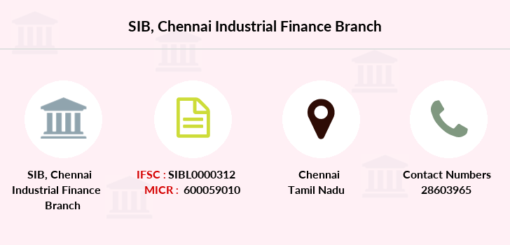 South-indian-bank Chennai-industrial-finance branch