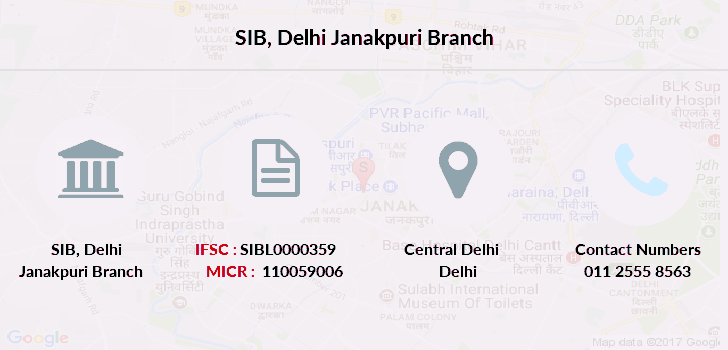 bank of india in south delhi branch
