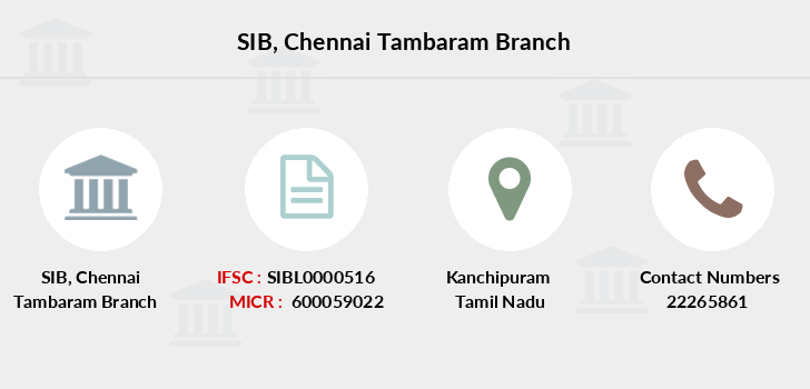South-indian-bank Chennai-tambaram branch