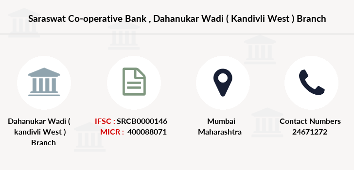 Saraswat-co-op-bank Dahanukar-wadi-kandivli-west branch