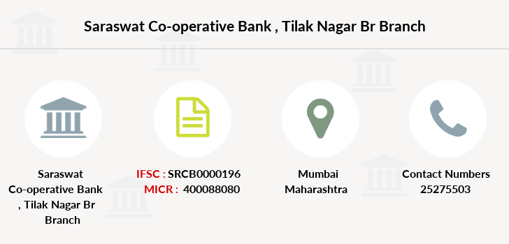 Saraswat-co-op-bank Tilak-nagar-br branch
