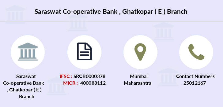 Saraswat-co-op-bank Ghatkopar-e branch
