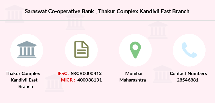 Saraswat-co-op-bank Thakur-complex-kandivli-east branch